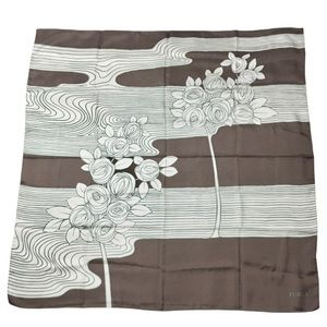 NEW Furla Rosebush 100% silk Scarf Made in Italy